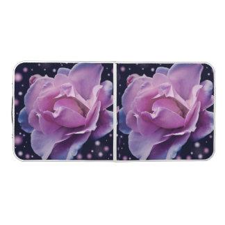 beautiful elegant stylish flower | purple rose beer pong table