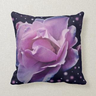 beautiful elegant stylish flower   purple rose cushion
