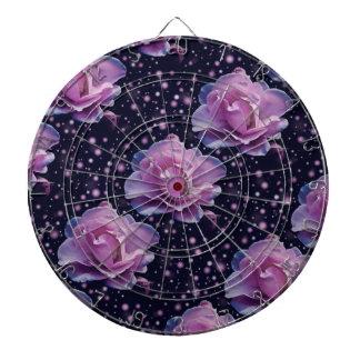 beautiful elegant stylish flower | purple rose dartboard