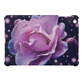 beautiful elegant stylish flower   purple rose iPad mini cover