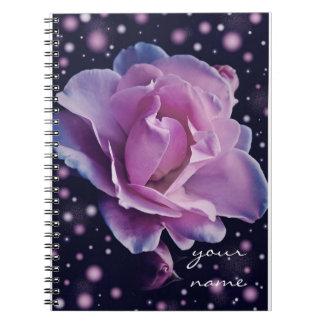 beautiful elegant stylish flower   purple rose notebooks