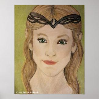 Beautiful Elf Princess by Carol Zeock Poster