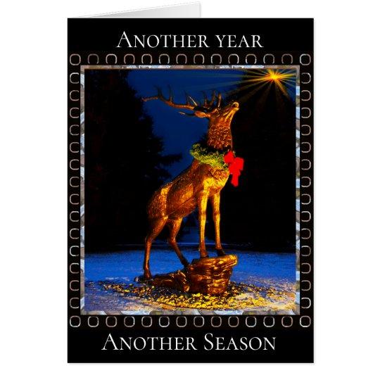 Beautiful Elk Christmas Thyme Card