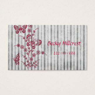 Beautiful embroidery look Business Card Template