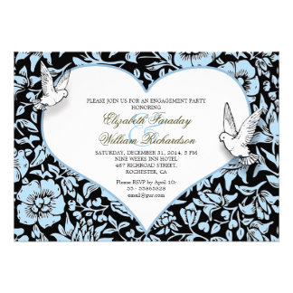 beautiful engagement party custom invitations
