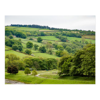 Beautiful English Landscape Yorkshire Dales Postcard