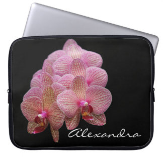 Beautiful Exotic Orchid flowers Laptop Sleeve