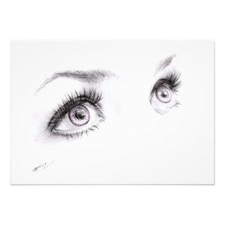 Beautiful eyes drawing minimalist art Photo print