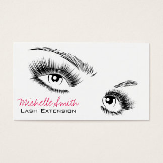 Beautiful eyes Long lashes Lash Extension Business Card