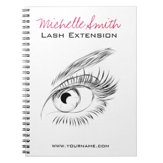 Beautiful eyes Long lashes Lash Extension Notebook