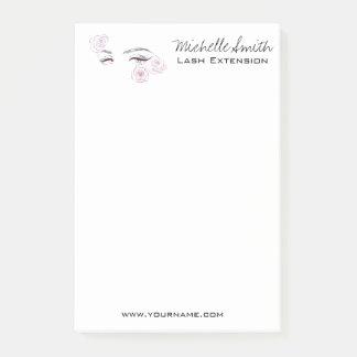Beautiful eyes Long lashes Roses Lash Extension Post-it Notes