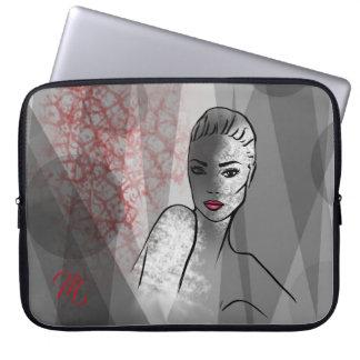 Beautiful Face Fashion Illustration Laptop Sleeve