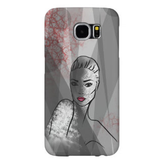 Beautiful Face Fashion Illustration Samsung Galaxy S6 Cases