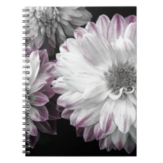 Beautiful faded dahlia print note book