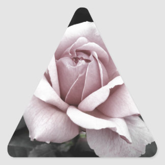 Beautiful faded pink rose print triangle sticker