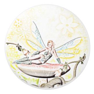 Beautiful fairy ceramic knob