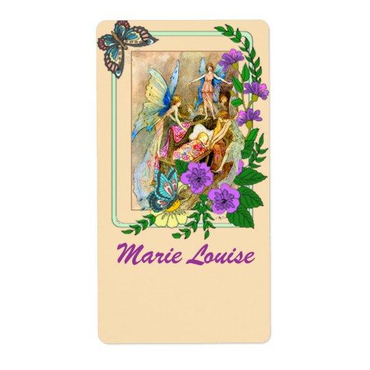 Beautiful Fairy Motif Nameplates /Bookplates