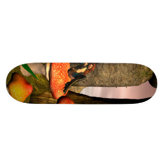 Beautiful fairy custom skateboard