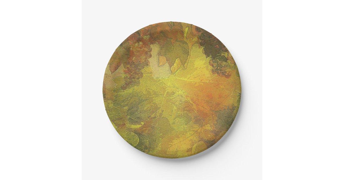 Beautiful fall paper plates 7 inch paper plate zazzle Beautiful plates