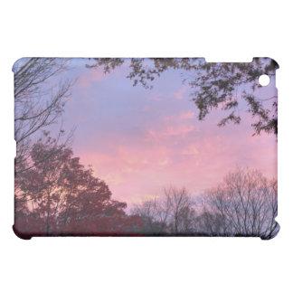 Beautiful Fall Sunset Over Trees iPad Mini Cover