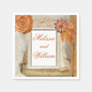 Beautiful Fall Wedding Disposable Napkins
