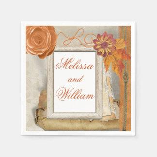 Beautiful Fall Wedding Disposable Serviette