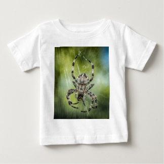 Beautiful Falling Spider on Web Baby T-Shirt