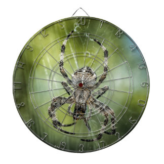 Beautiful Falling Spider on Web Dartboard