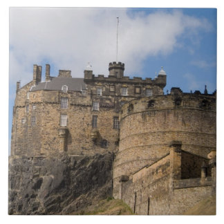 Beautiful famous giant Edinburgh Castle in Large Square Tile