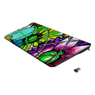 Beautiful Fantastic cool Feminine Colorful Daisies Wireless Keyboard