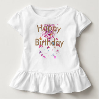 Beautiful fantastic feminine design Happy Birthday Toddler T-Shirt
