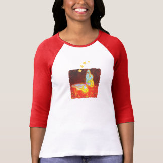 Beautiful Fantasy Butterfly Fireworks Collage T-Shirt