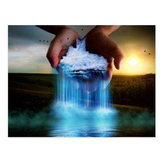 Beautiful fantasy nature illustration postcard