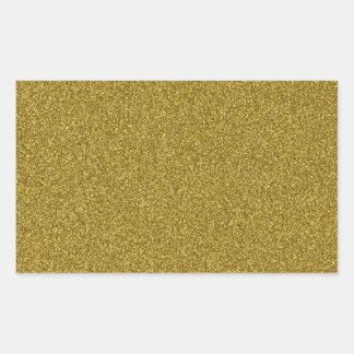 Beautiful fashinable girly yellow gold glitter rectangular sticker