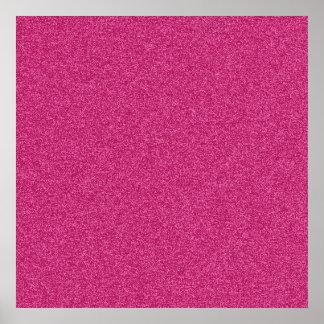 Beautiful fashionable girly hot pink glitter poster