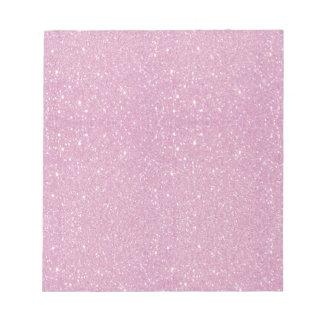 Beautiful fashionable soft purple glitter shinning notepad