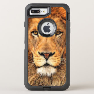 Beautiful Faux Acrylic Art Painting Of A Lion OtterBox Defender iPhone 8 Plus/7 Plus Case
