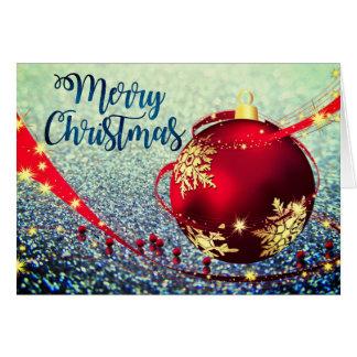 Beautiful Faux Glitter Christmas Card