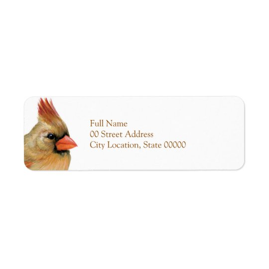 Beautiful Female Cardinal Return Address Label