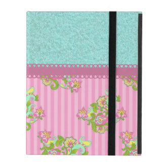 Beautiful Feminine Flower Pattern iPad Folio Case