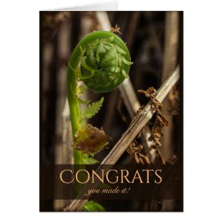 Beautiful fern overcoming winter CC0917 Congrats Card