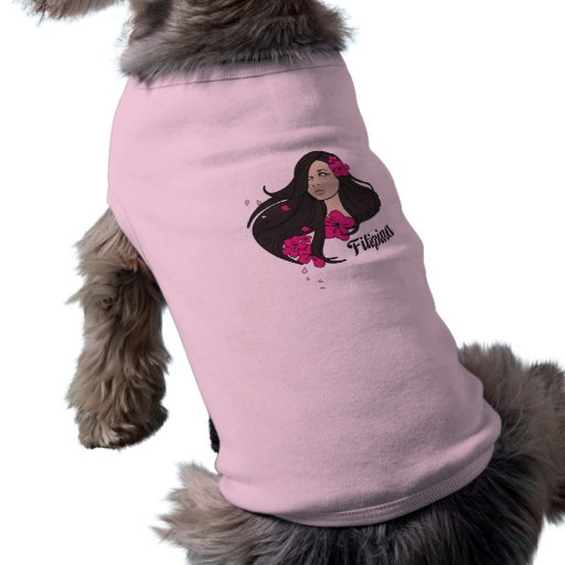 Beautiful Filipina Graphic Tee Doggie T-shirt