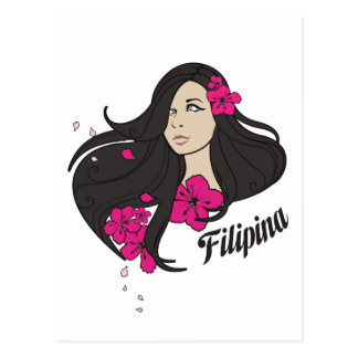 Beautiful Filipina Graphic Tee Post Card