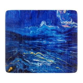 Beautiful fine Fluid Art Midnight Astract Cutting Boards