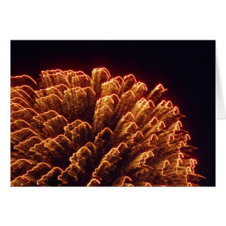 beautiful fireworks greeting card