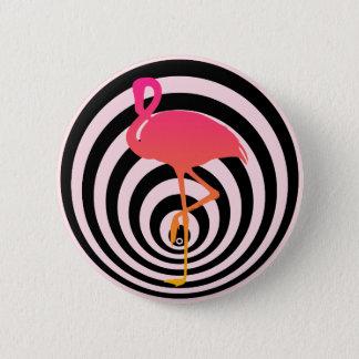 Beautiful flamingo in circles 6 cm round badge