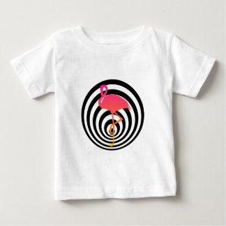 Beautiful flamingo in circles baby T-Shirt