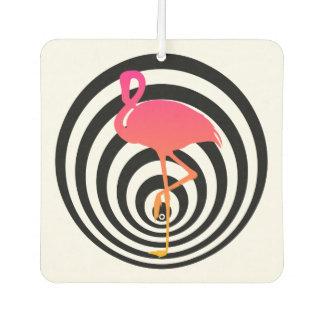 Beautiful flamingo in circles car air freshener