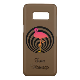 Beautiful flamingo in circles Case-Mate samsung galaxy s8 case