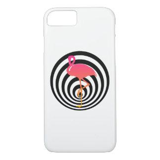 Beautiful flamingo in circles iPhone 8/7 case
